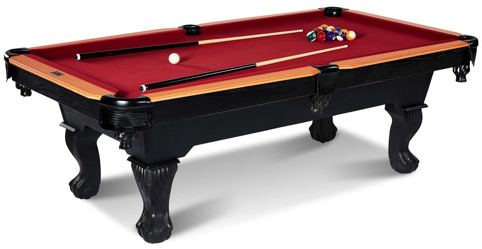 Superbe Barrington 8 Ft. Glendale Billiard Pool Table With Cue Set And Accessory  Kit, Black/Red   Walmart.com