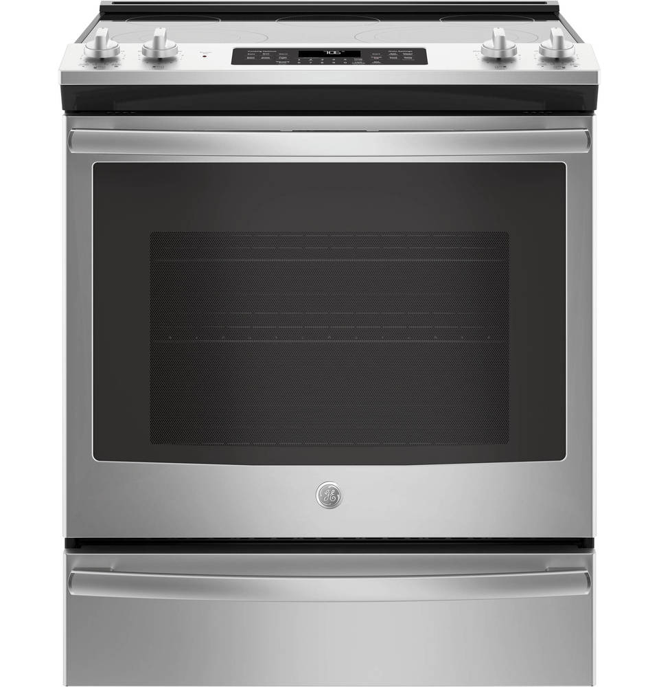 ge smooth surface 5element with steam slidein single
