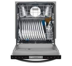 Frigidaire Dishwasher: FFID2426TD, Door open, Loaded