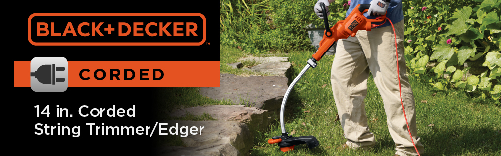 BLACK+DECKER 7 5-Amp 14-in Corded Electric String Trimmer at