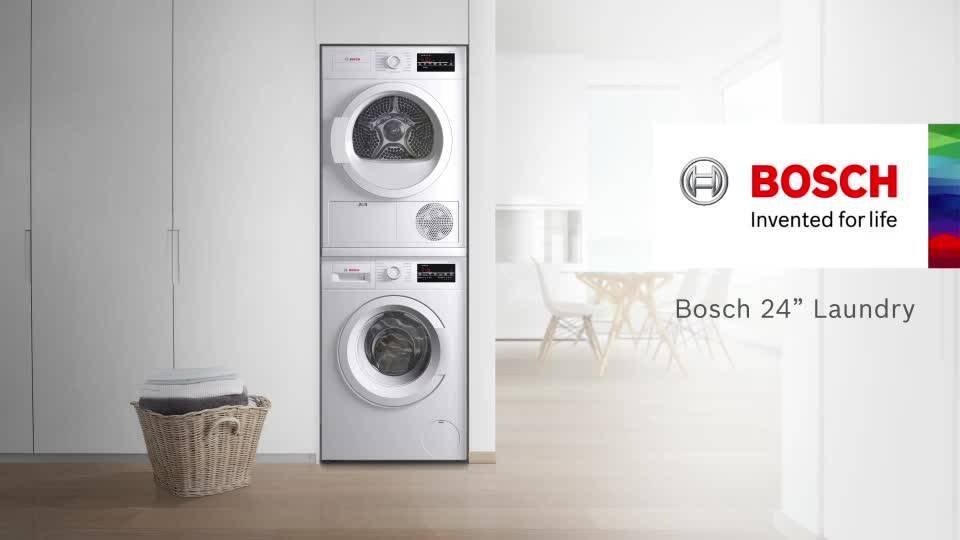 shop bosch 300 series 22cu ft stackable frontload washer white at lowescom