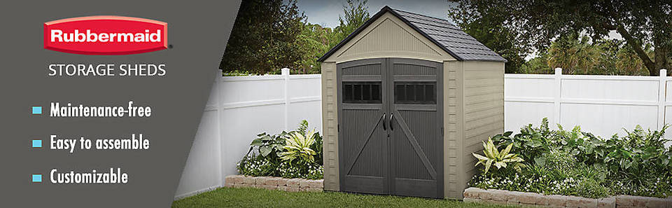 rubbermaid storage sheds - Garden Sheds 7x7