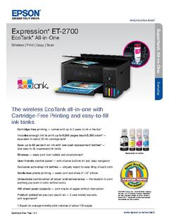 Epson Expression EcoTank ET-2750 Supertank All In One