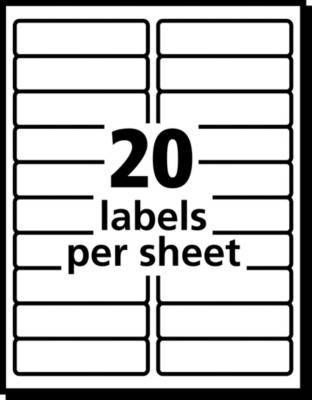 Avery 8161 White Inkjet Address Labels With Easy Peel 1 X 4