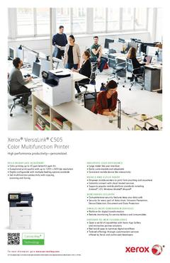 View Xerox® VersaLink® C505 Color Printer PDF