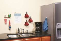 Command(TM) products help organize your office's breakroom.