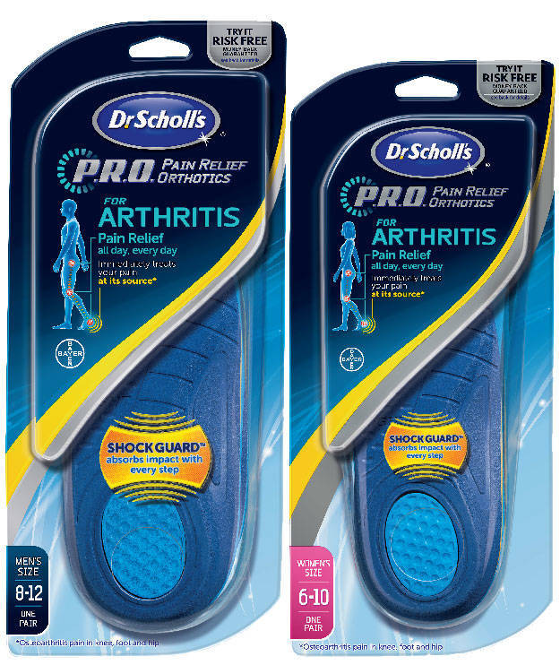 df41a4ba00 Dr. Scholl's P.R.O. Pain Relief Orthotics for Arch- Men's, Size 8-12 [] -  Walmart.com