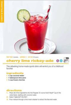 cherry lime rickey-ade