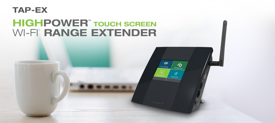 High Power Touch Screen Wi-Fi Range Extender