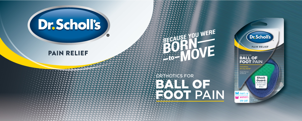 Dr. Scholl's Pain Relief Orthotics for Ball of Foot, One Size, 1 PR on