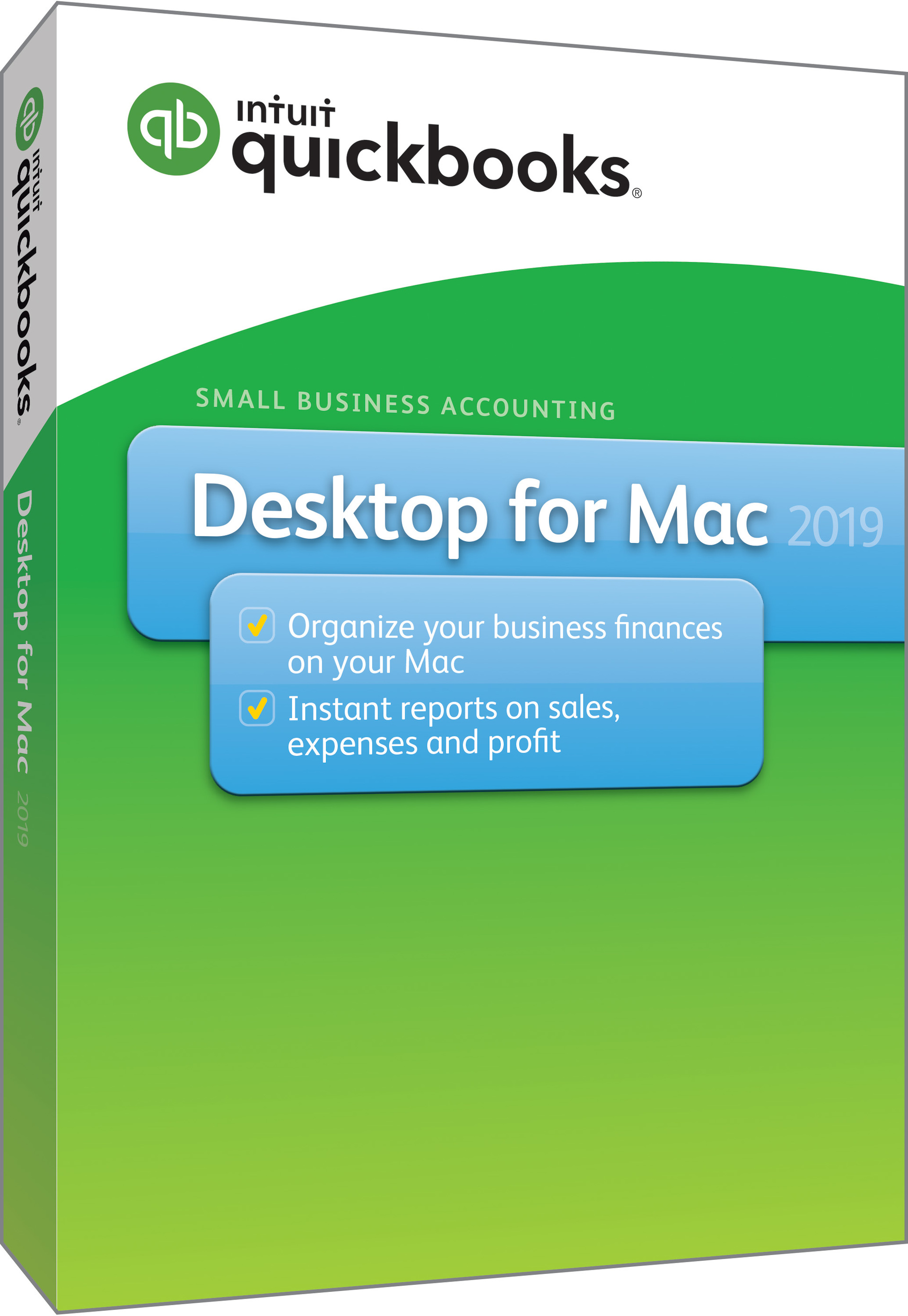 QuickBooks Desktop Pro Mac 2019 for 1 User, Mac, Disk (605999)