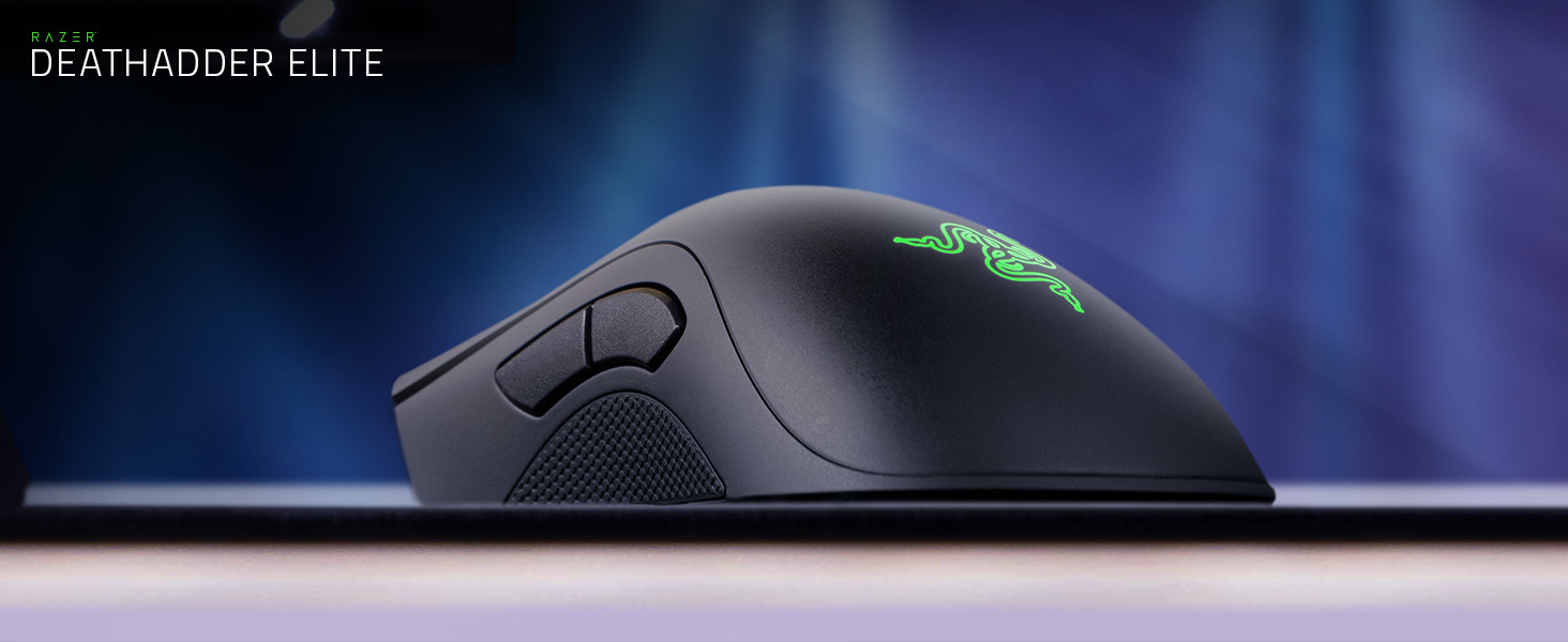 Razer DeathAdder Elite: True 16,000 5G Optical Sensor - Razer Mechanical  Mouse Switches (Up to 50 Million Clicks) - Ergonomic Form Factor - Esports