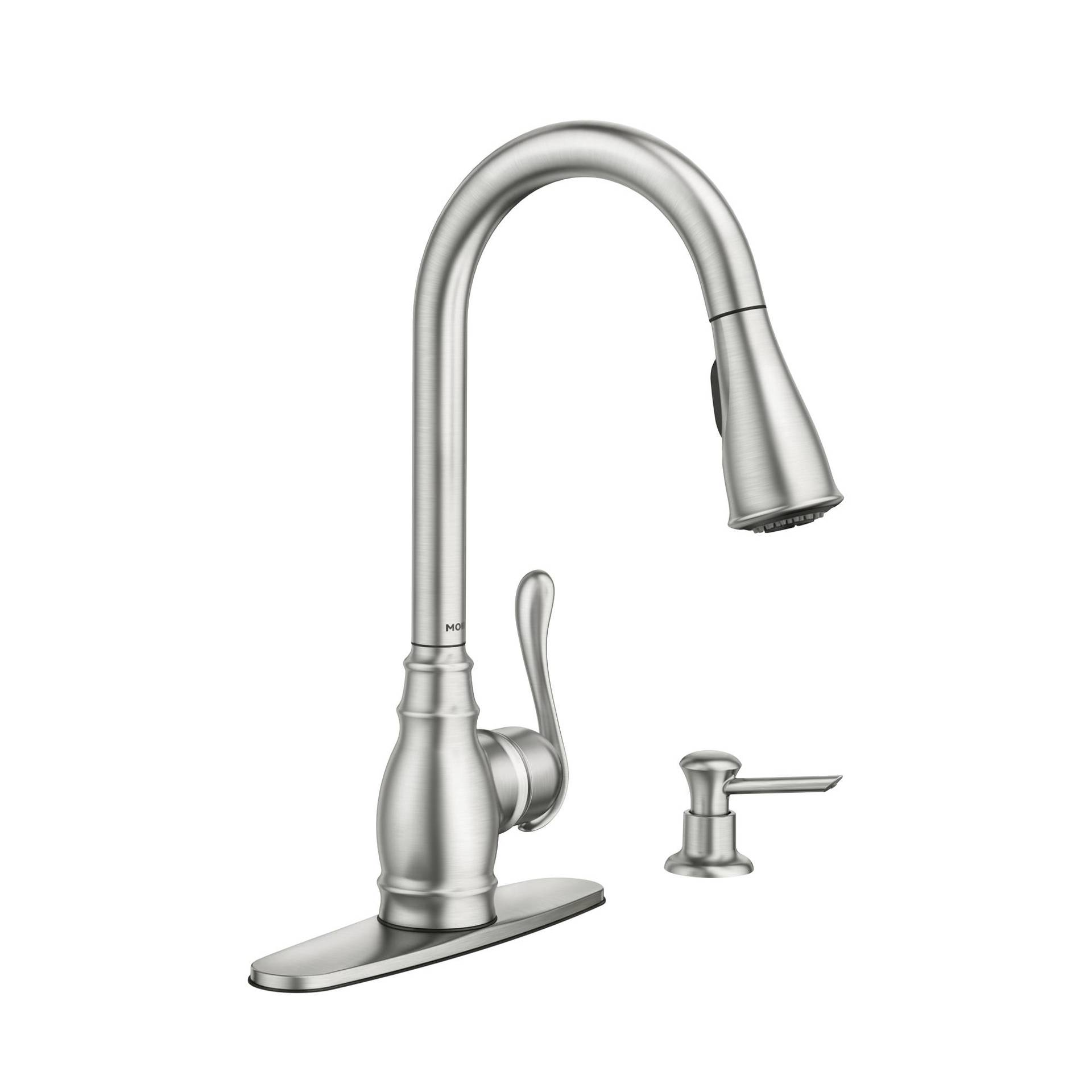 Moen Anabelle Spot Resist Stainless 1 Handle Pull Down Kitchen Faucet In The Kitchen Faucets Department At Lowes Com