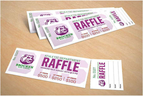 picture regarding Printable Raffle Tickets With Stubs called Avery® Printable Tickets, 1 3/4\