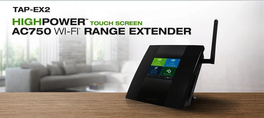 High Power Touch Screen AC750 Wi-Fi Range Extender