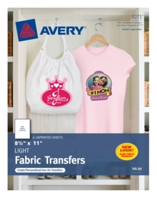 1a09b5934 Personalize T-shirts with the name of your team or family crest emblazoned  on the front with these T-shirt Transfers. Get free templates from  avery.com to ...
