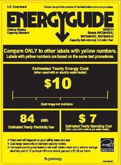 View WAT28402UC - Energy Guide PDF