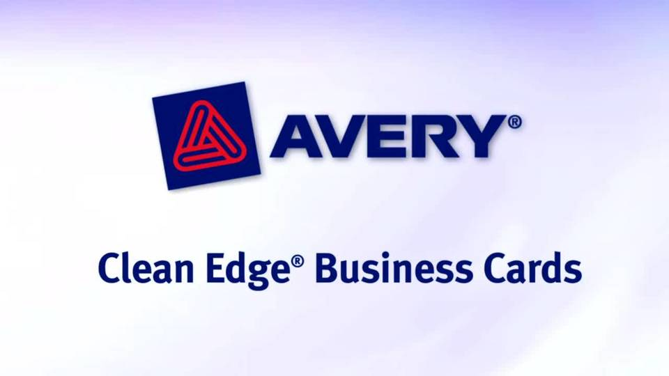 Avery Inkjet Clean Edge Two Side Printable Business Cards 2 Sided 2 ...