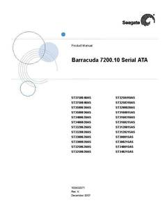 View Barracuda 7200.10 SATA Product Manual PDF