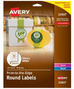 Avery Permanent Durable Wraparound Labels X White - Avery water bottle label template