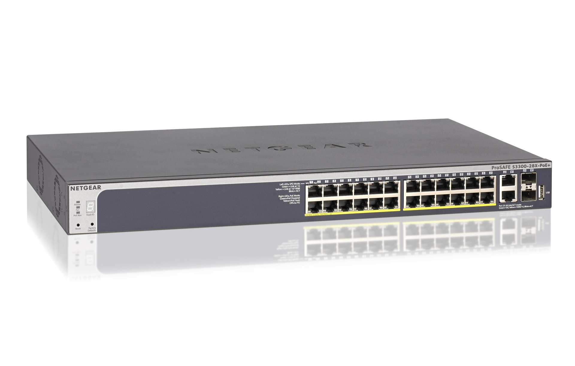 NETGEAR S3300-28X - switch - 28 ports - smart - rack-mountable