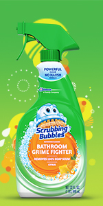 Scrubbing Bubbles Bathroom Grime Fighter Spray, Scrubbing Bubbles Bathroom  Grime Fighter Aerosol, Scrubbing Bubbles Foaming Bleach Bathroom Cleaner ...