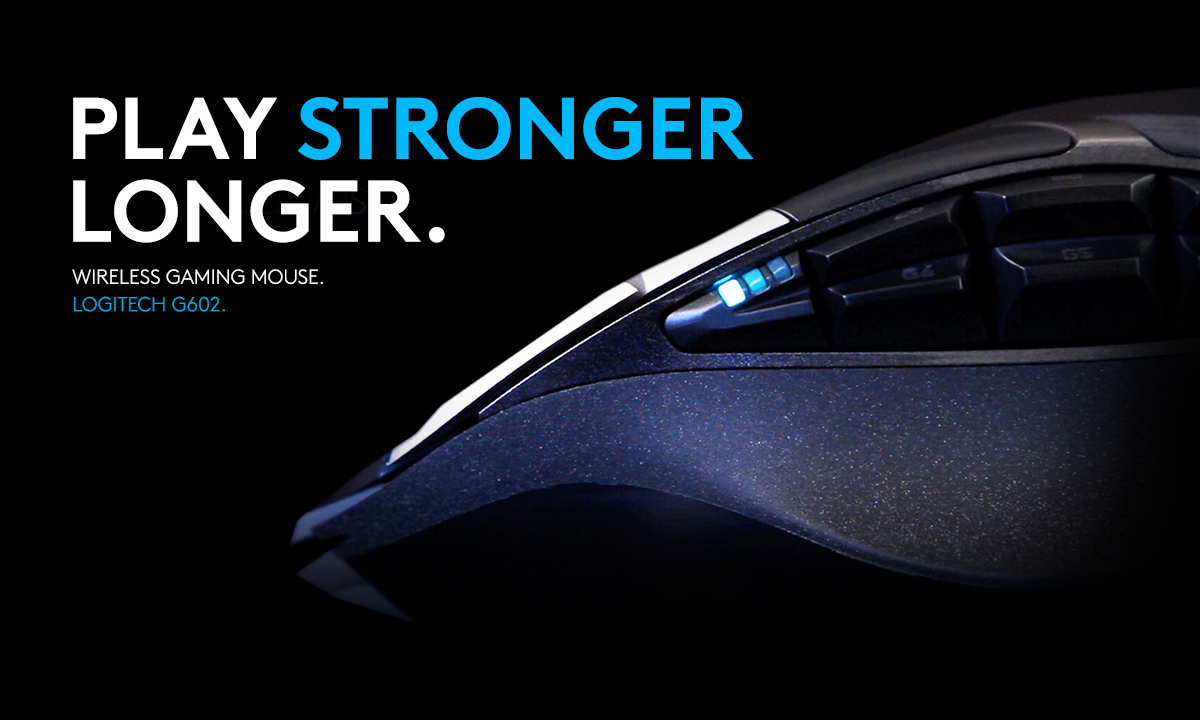 PLAY STRONGER. Logitech G602 Wireless Gaming Mouse