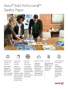 View Look a Step Ahead of the Rest with Xerox® Bold Professional™ Quality Paper PDF
