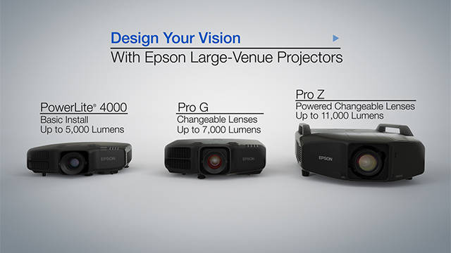 Epson Large Venue Projectors Overview