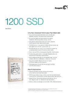 View 1200 SSD Data sheet PDF