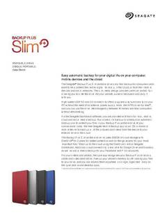 View Backup Plus Slim Portable Drive PDF