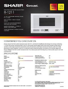 View R-1211 Spec Sheet PDF