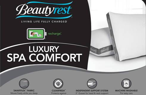 luxury spa comfort pillow
