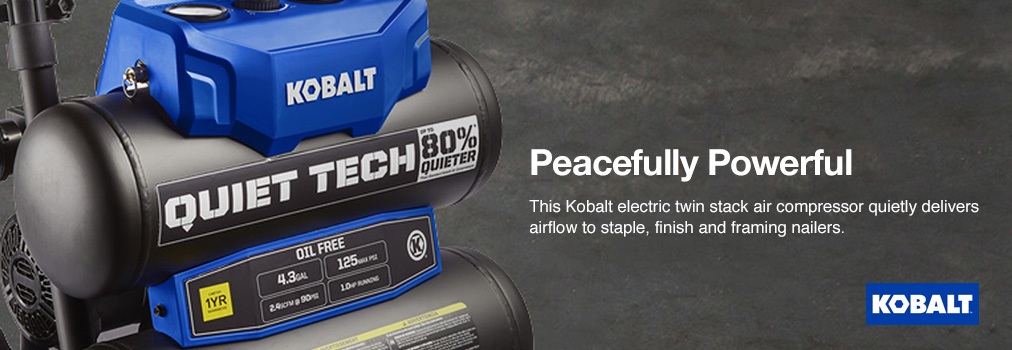 Kobalt Quiet Tech 4 3-Gallon Portable Electric Twin Stack Air