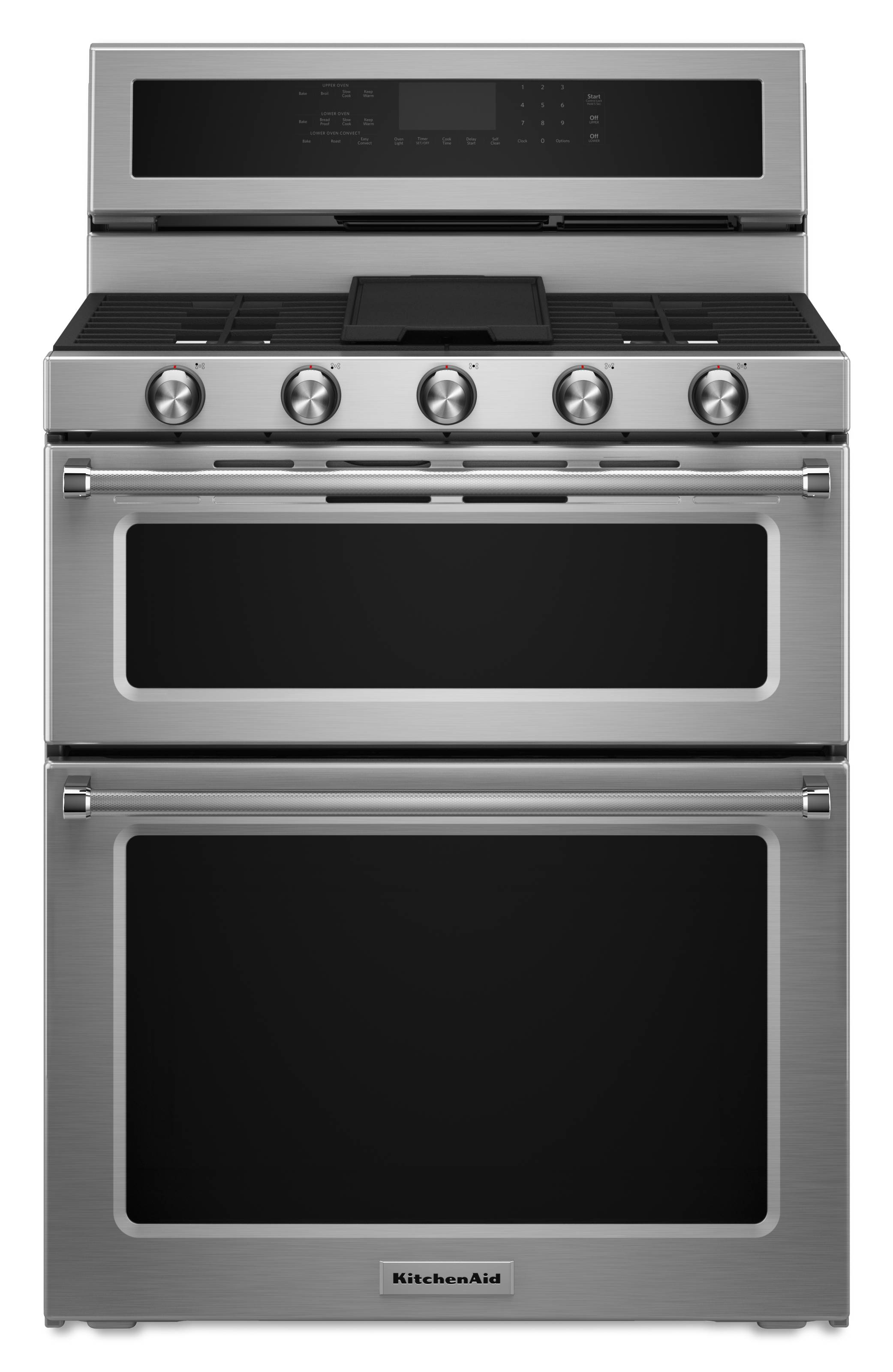 Kitchenaid 30 In 5 Burner 3 9 Cu Ft 2 1