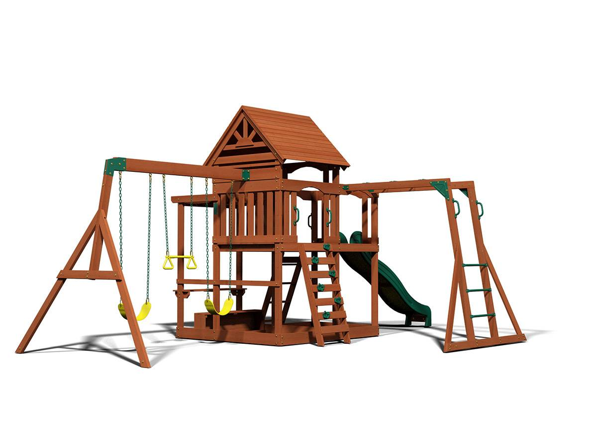 Backyard Discovery Monticello Cedar Swing Set Box 2