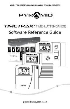 View TimeTrax Elite Series Software Reference Guide TTELITEEK PDF