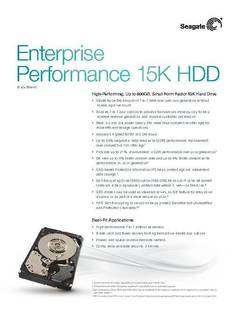View Enterprise Performance 15K.4 HDD Data Sheet PDF