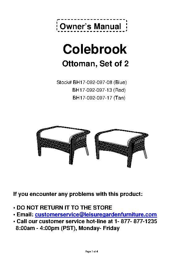 Better homes and gardens colebrook 2pk ottomans for Better homes and gardens customer service telephone number