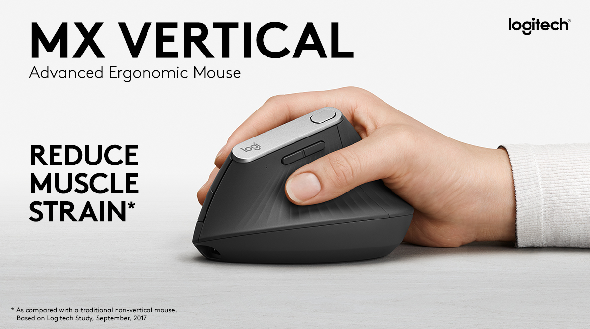 8b03ab64bb3 Logitech MX Vertical Advanced Ergonomic Mouse, Graphite (910-005447 ...