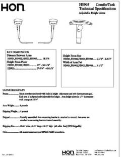 View H5901 Specification Sheet PDF