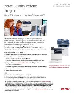 Xerox Loyalty Rebate Program