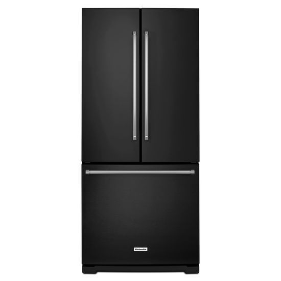 Kitchenaid 30 19 7 Cu Ft French Door Refrigerator With: KitchenAid 19.7 Cu. Ft. French Door Refrigerator - Black