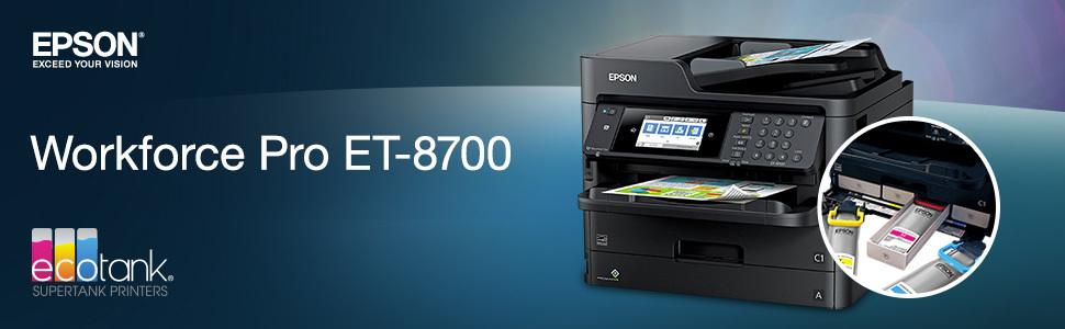 EPSON WorkForce Pro ET-8700 EcoTank All-In-One Printer | Dell United