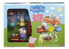 Peppa Pig Jumbo Playset with Push and Go Car
