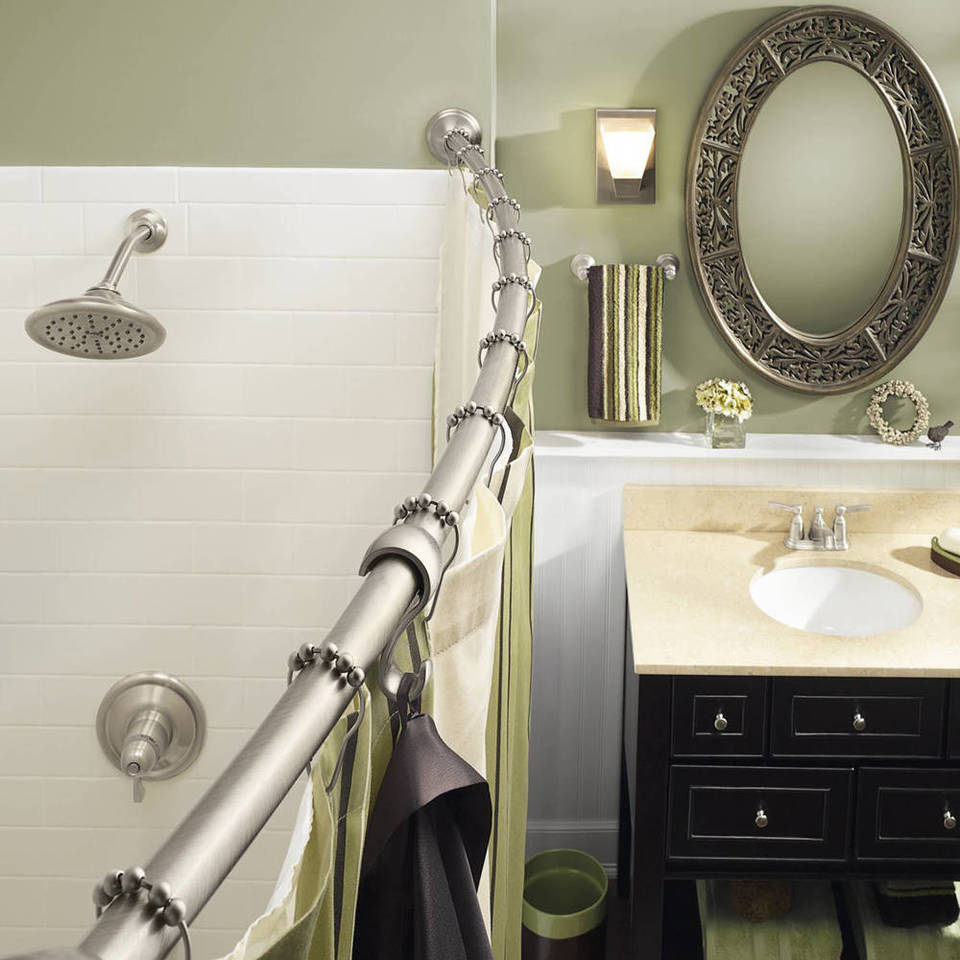 chrome to rustproof bronze shower products or utopia curved rod alley nickel aluminum brushed wide