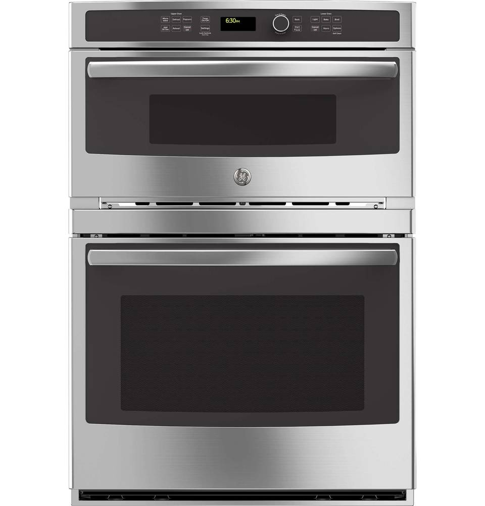 Ge Self Cleaning With Steam Microwave Wall Oven Combo Common 30 In