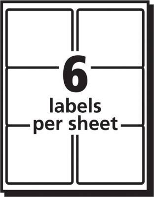 Avery 3 13 X 4 Weatherproof Shipping Labels White 300box