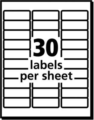 Avery Easy Peel Permanent Address Labels 8660 1 X 2 58 Matte Clear