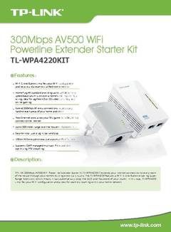 View TL-WPA4220KIT Datasheet PDF